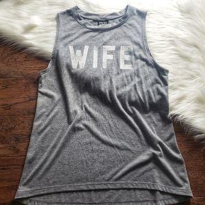 """Modern Lux Muscle Tank """"Wife"""" sz Lg"""